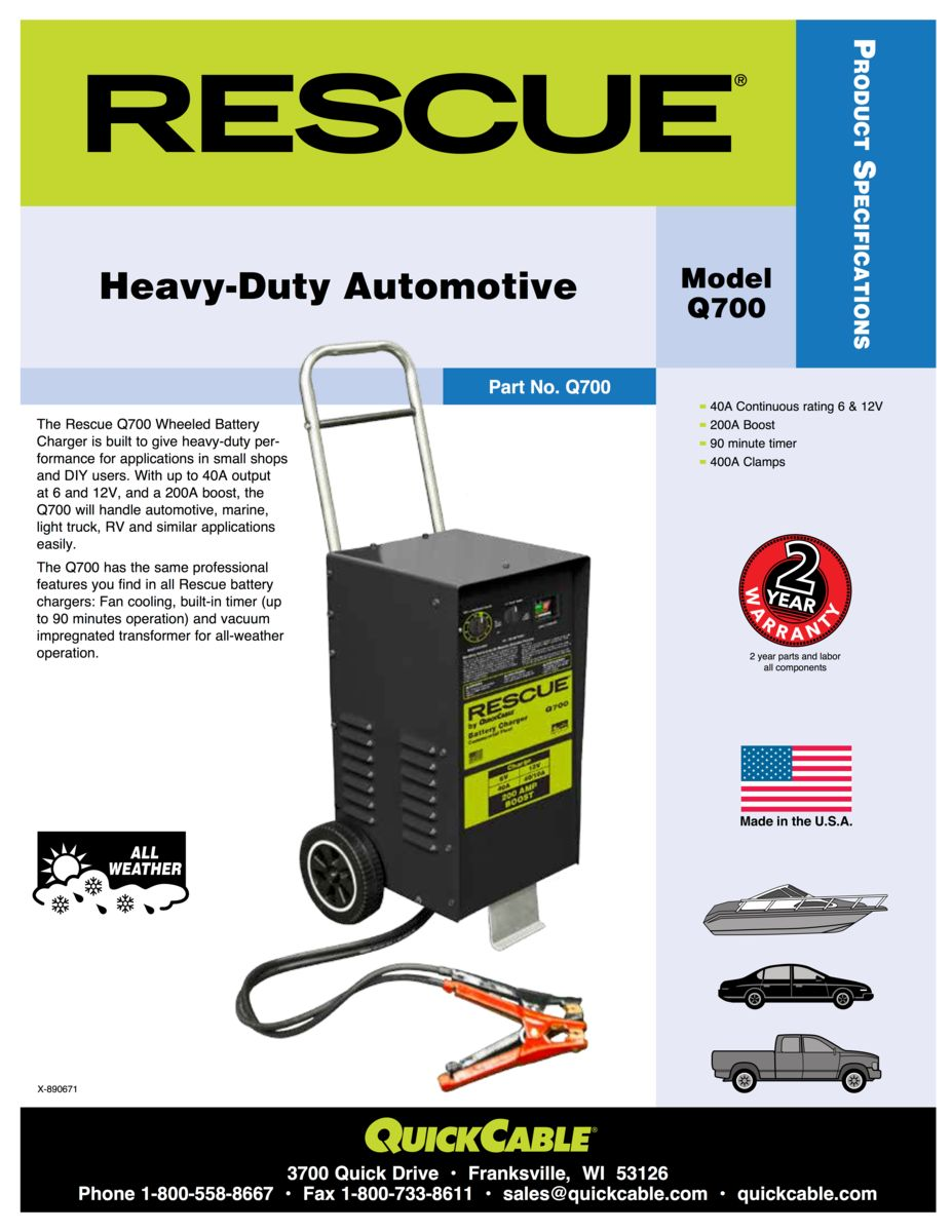 Rescue Battery Chargers - Midstate Battery